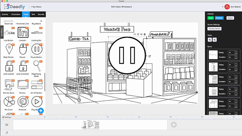 Doodly whiteboard video Dashboard showing consistency in branding