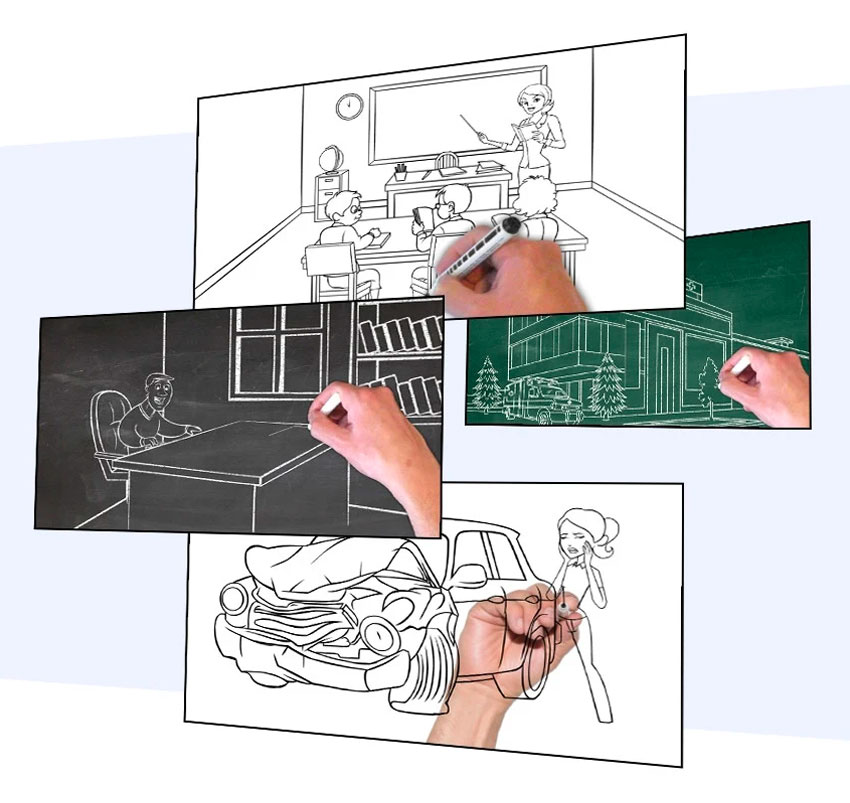 Whiteboard video sketch