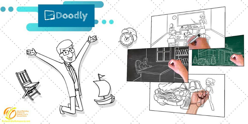 Doodly brand value whiteboard video sketch