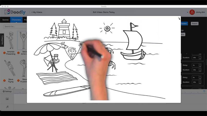 whiteboard video script telling a story
