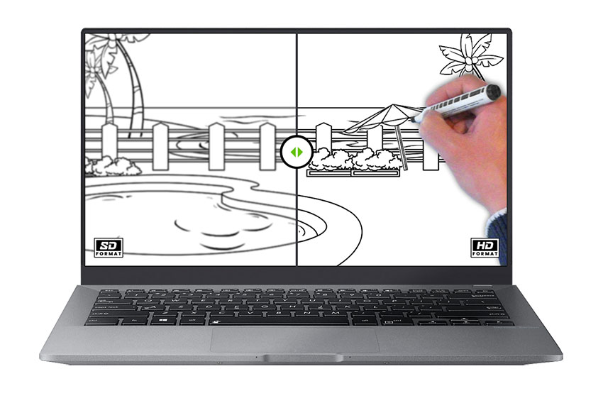 laptop showing a whiteboard video